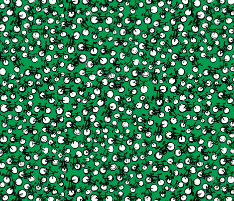 bikesGREEN fabric by laurenhunt on Spoonflower - custom fabric