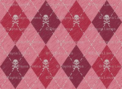 Arrgyle-Pirate Red