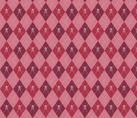 Arrgyle-Pirate Red fabric by electromouse1 on Spoonflower - custom fabric