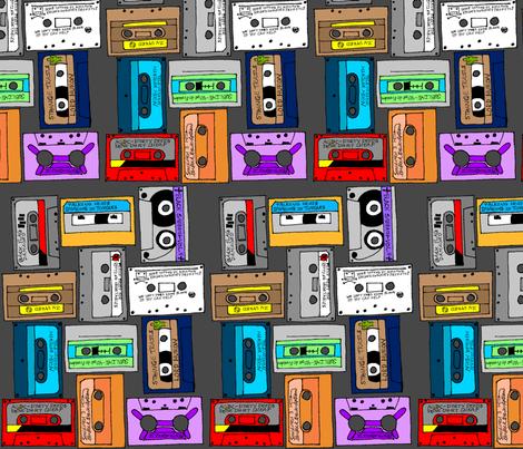 Favorite Album Cassettes fabric by zeppystarduststudios on Spoonflower - custom fabric
