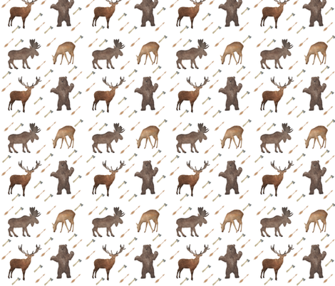 Deer Bear Stag Moose fabric by hudsondesigncompany on Spoonflower - custom fabric