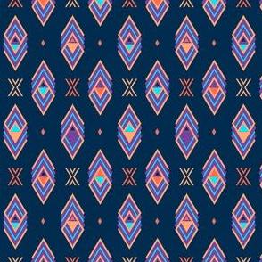 Navy Aztec Diamond