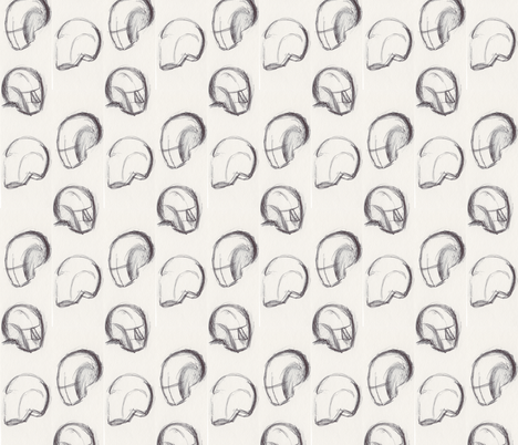 Head Games fabric by lilafrances on Spoonflower - custom fabric