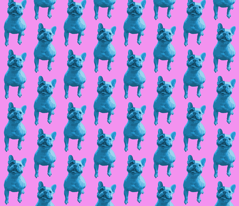 Bertie Two-tone - Blue and Pink fabric by hollywood_royalty on Spoonflower - custom fabric