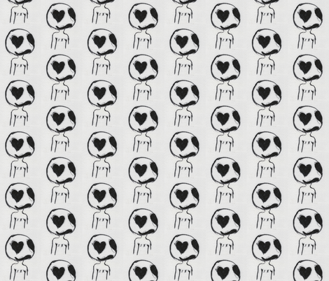 Sad Larry Hopes for Love fabric by lilafrances on Spoonflower - custom fabric