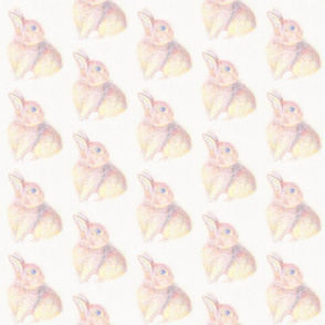 Baby Bunny in Pastel Colors