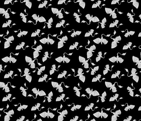 Haunted Dragons fabric by pamelachi on Spoonflower - custom fabric