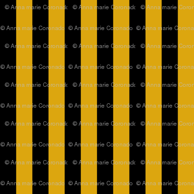 Egyptian Stripe Black and Gold