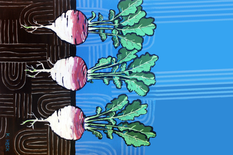 Turnips fabric by kheckart on Spoonflower - custom fabric