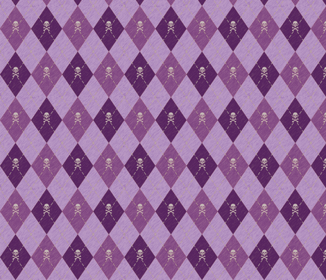 Arrgyle-Pirate Purple fabric by electromouse1 on Spoonflower - custom fabric
