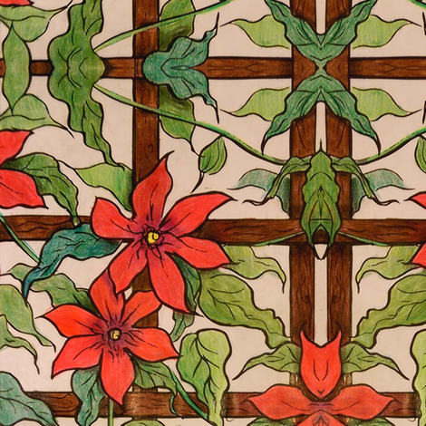 Trellis fabric by ellehappens on Spoonflower - custom fabric