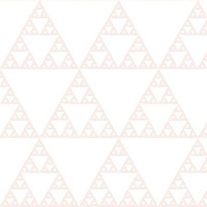 Sierpinski triangle - pale coral on white