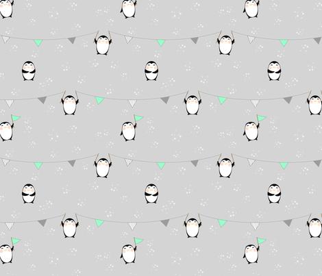 Yay! Penguins! fabric by joshw on Spoonflower - custom fabric
