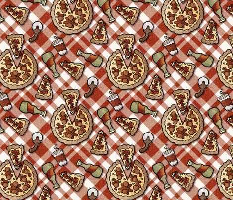 antiqued pizza fabric by hannafate on Spoonflower - custom fabric