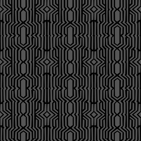 Mirror Maze (Tribal Gray) fabric by david_kent_collections on Spoonflower - custom fabric