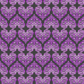 Diamondhearts grey/purple