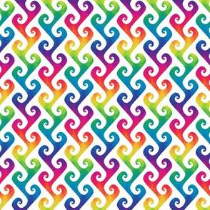 mini rainbow tendrils on white