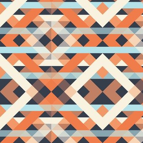 Diamond Orange_Blue_weave