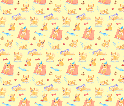 Chihuahua Fun! fabric by westgateillustrates on Spoonflower - custom fabric
