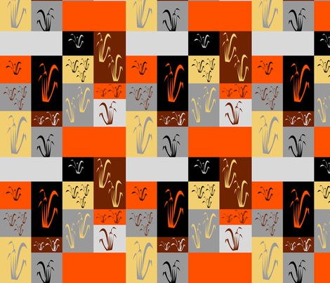 Autumn Grasses fabric by pamelachi on Spoonflower - custom fabric