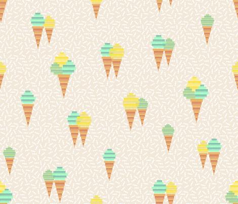 Icecream Pinata (mint) fabric by les_motifs_de_sarah on Spoonflower - custom fabric