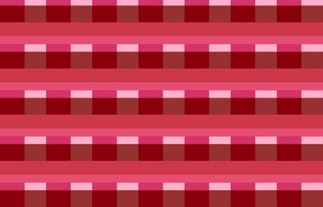 Modern Stripes - Berry fabric by drapestudio on Spoonflower - custom fabric