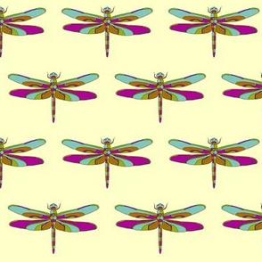 Dragonfly Illustration // Yellow