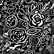 Floral Explosion (BW)