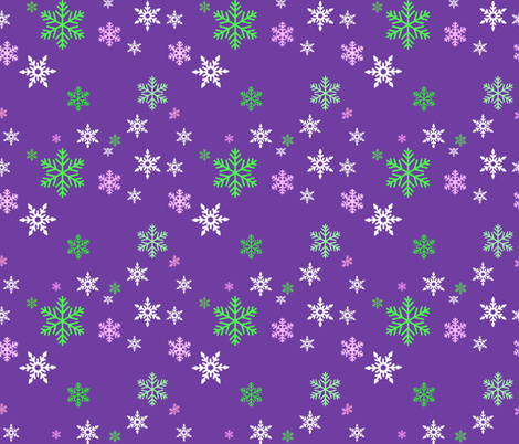 snowy purple fabric by katawampus on Spoonflower - custom fabric