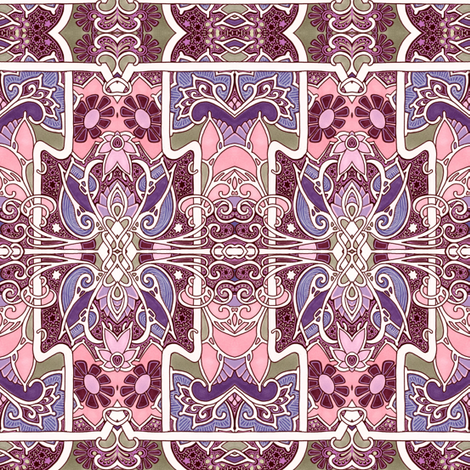 If Pink Married Purple fabric by edsel2084 on Spoonflower - custom fabric