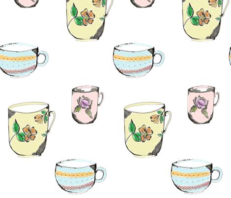 3_cups_of_tea fabric by jennifer_rizzo on Spoonflower - custom fabric