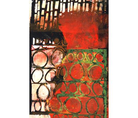 """""""Through My Gate"""" fabric by elizabethvitale on Spoonflower - custom fabric"""