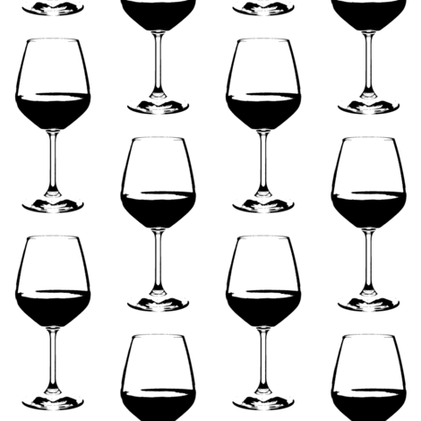 Wine Glass // Large fabric by thinlinetextiles on Spoonflower - custom fabric