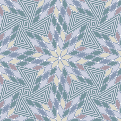 Star of Diamonds and Pinwheels in Smoke fabric by eclectic_house on Spoonflower - custom fabric
