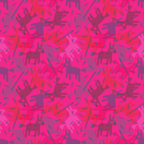 Pink Pinata fabric by seesawboomerang on Spoonflower - custom fabric