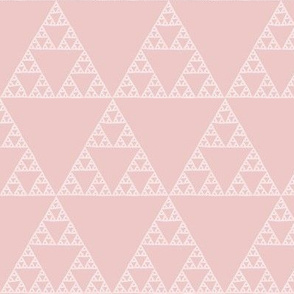 Sierpinski triangle in hyacinth pink