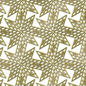 Fake Gold Filigree Star of Christmas