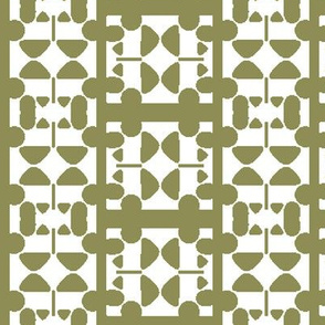 Abstract Elements forming Green and White Check