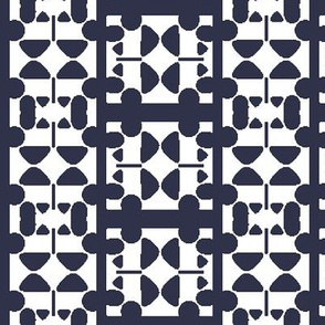 Abstract Elements forming Blue and White Check