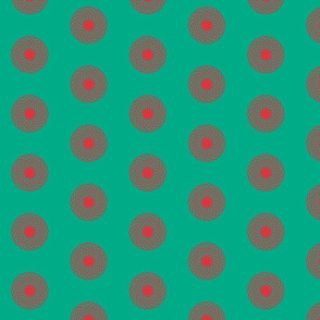 Red Geometric Flowers