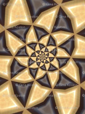 Golden Steampunk Pinwheels