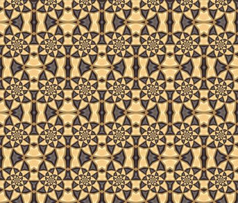 Golden Steampunk Pinwheels fabric by ginascustomcreations on Spoonflower - custom fabric