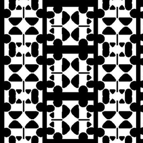 Abstract Design Elements forming Black and White Checks