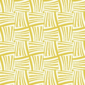 Woven Strands in Yellow and White