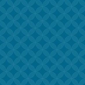 Shippo Sashiko on Blue