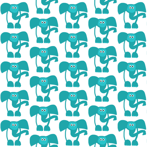 Masked Elephant fabric by stephaniecolecreations on Spoonflower - custom fabric