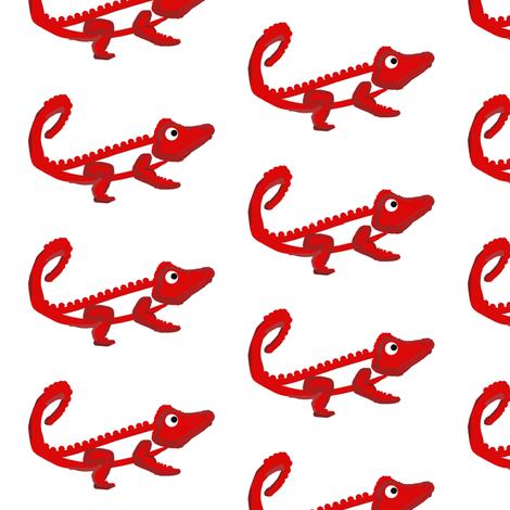 Fiery Croc fabric by stephaniecolecreations on Spoonflower - custom fabric