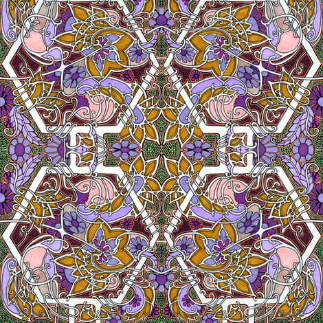 Art Nouveau Infestations fabric by edsel2084 on Spoonflower - custom fabric