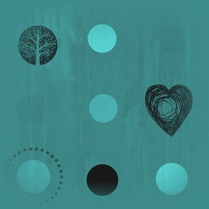 dark turquoise tree dot heart