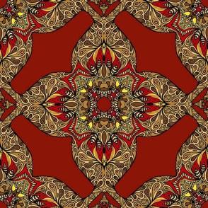 guilded scarlet cross